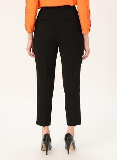 Random Kadın Yüksek Bel Pileli Pantolon Siyah